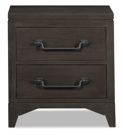 Theo Nightstand - Charcoal|Table de nuit Theo - anthracite|THEOB2NS