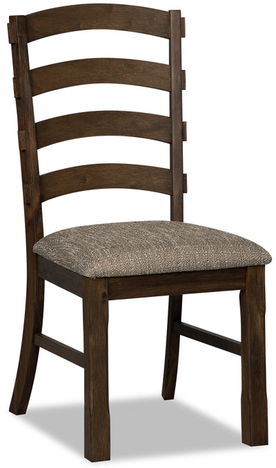 Theo Dining Chair - {Country} style Dining Chair in Dark Brown {Rubberwood}, {Acacia}