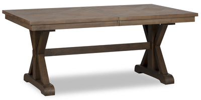 Theo Dining Table - {Country} style Dining Table in Dark Brown {Rubberwood}, {Acacia}