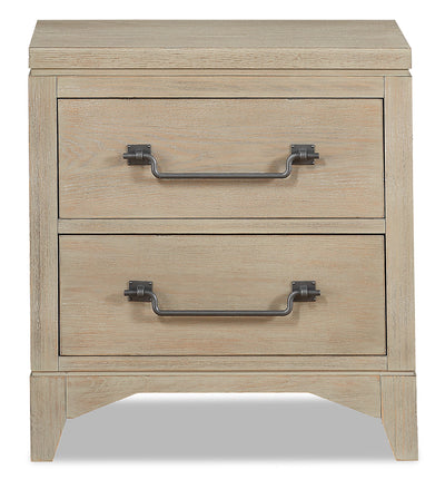 Theo Nightstand - Dovetail Grey - {Modern} style Nightstand in Dovetail Grey {Poplar}, {Oak}