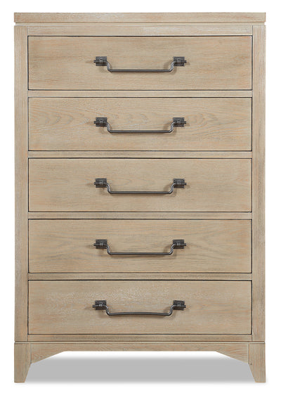 Theo Chest - Dovetail Grey|Commode verticale Theo - gris tourterelle|THEOG5CH