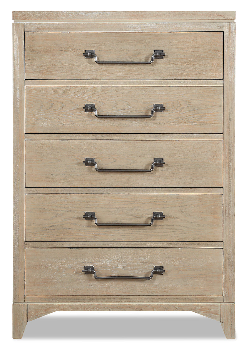 Theo Chest - Dovetail Grey - {Modern} style Chest in Dovetail Grey {Poplar}, {Oak}