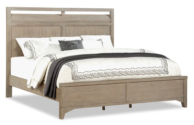 Theo King Bed - Dovetail Grey|Très grand lit Theo - gris tourterelle|THEOGKBD