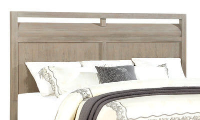 Theo King Headboard - Dovetail Grey - {Modern} style Headboard in Dovetail Grey {Poplar}, {Oak}