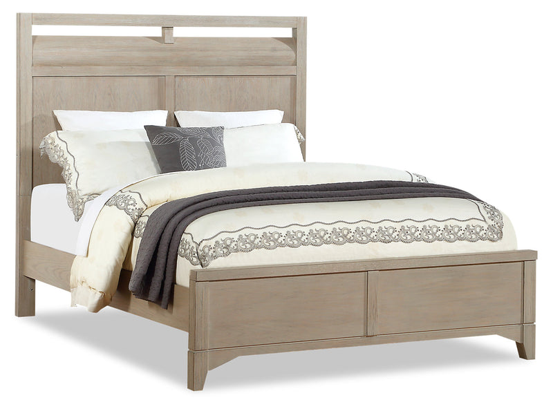 Theo Queen Bed - Dovetail Grey - {Modern} style Bed in Dovetail Grey {Poplar}, {Oak}