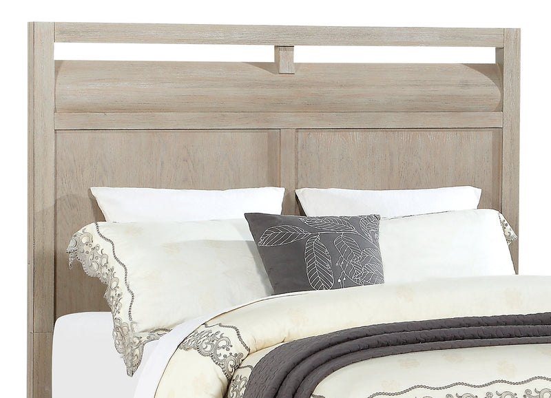 Theo Queen Headboard - Dovetail Grey - {Modern} style Headboard in Dovetail Grey {Poplar}, {Oak}