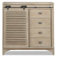 Theo Sliding Door Chest - Dovetail Grey