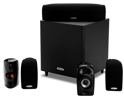 Polk TL1600 5.1-Channel Compact Surround Sound System with Subwoofer|Système de son surround compact à 5.1 canaux TL1600 de Polk avec caisson d'extrêmes graves|TL1600PK