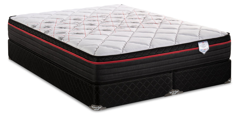 Springwall True North Chiropractic Niagara Eurotop King Mattress Set|Ensemble matelas à Euro-plateau True North Niagara ChiropracticMD de Springwall pour très grand lit