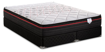 Springwall True North Chiropractic Niagara Eurotop Split Queen Mattress Set|Ensemble à Euro-plateau divisé True North Niagara ChiropracticMD de Springwall pour grand lit|TNCNISQP