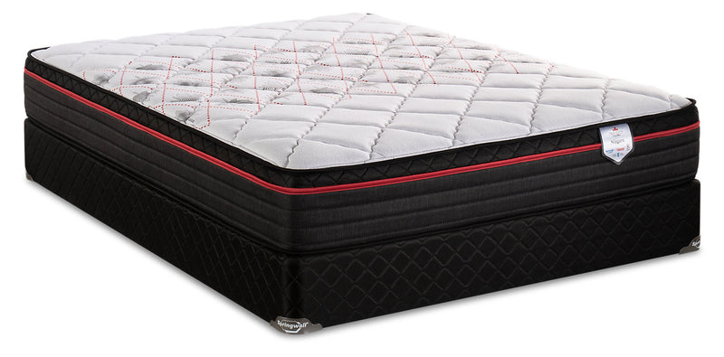 Springwall True North Chiropractic Niagara Eurotop Queen Mattress Set|Ensemble matelas à Euro-plateau True North Niagara ChiropracticMD de Springwall pour grand lit