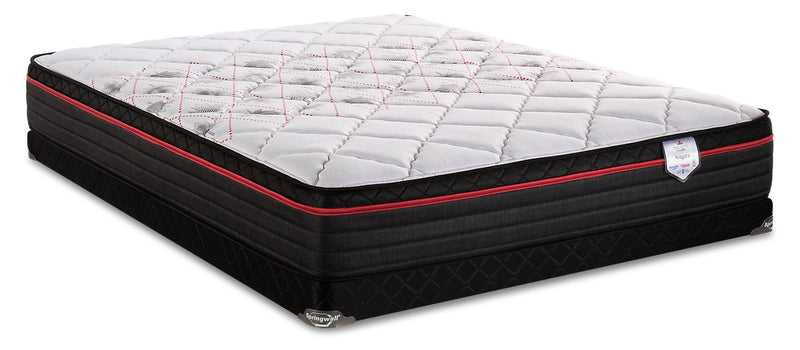 Springwall True North Chiropractic Niagara Eurotop Low-Profile Full Mattress Set|Ensemble à Euro-plateau à profil bas True North Niagara Chiropractic de Springwall pour lit double