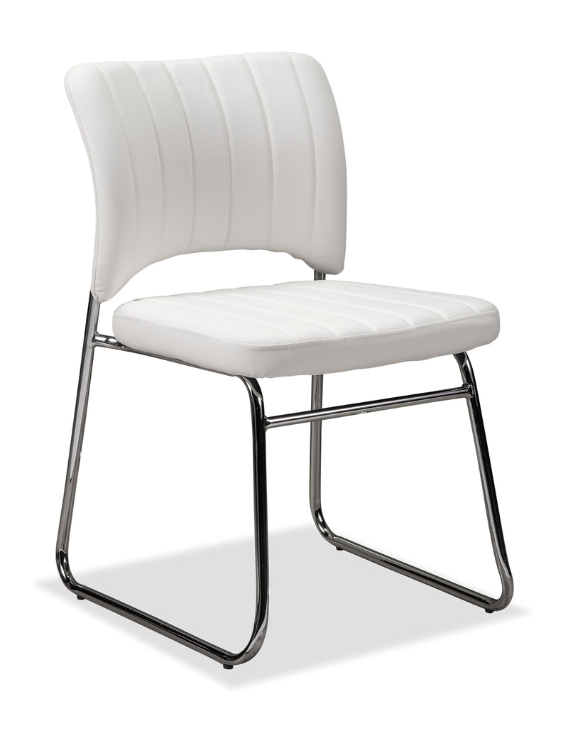 Toby Dining Chair - White|Chaise de salle à manger Toby - blanche