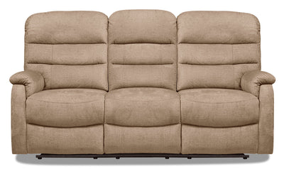 Todd Velvet Power Reclining Sofa - Taupe|Sofa à inclinaison électrique Todd en velours - taupe|TODDTAPS