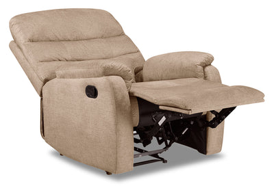 Todd Velvet Recliner - Taupe|Fauteuil inclinable Todd en velours - taupe|TODDTARC