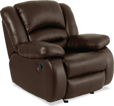 Toreno Genuine Leather Recliner - Brown|Fauteuil inclinable Toreno en cuir véritable - brun|TOR4BRRC