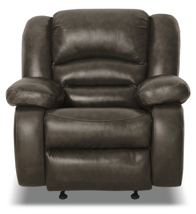 Toreno Genuine Leather Power Recliner - Grey|Fauteuil à inclinaison électrique Toreno en cuir véritable - gris|TOR4GYPC