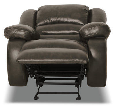 Toreno Genuine Leather Recliner - Grey|Fauteuil inclinable Toreno en cuir véritable - gris|TOR4GYRC