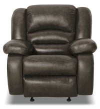 Toreno Genuine Leather Reclining Chair - Grey