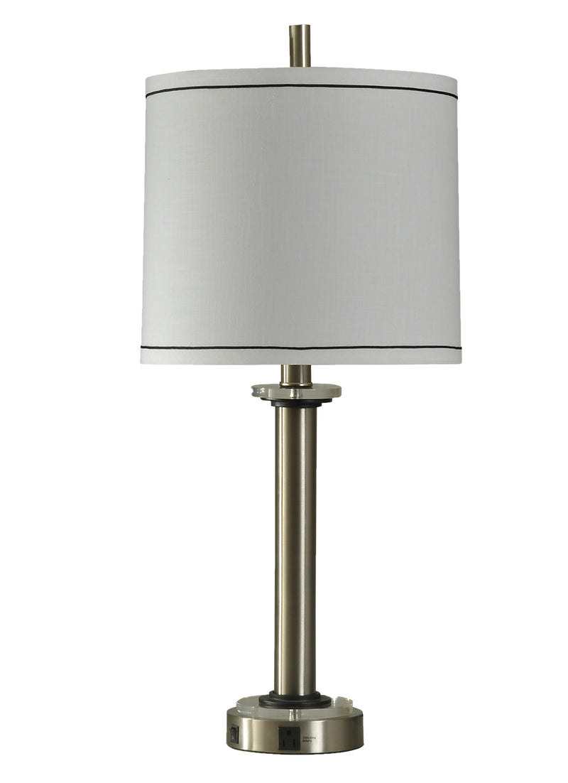 Tracee Brushed Steel Table Lamp|Lampe de table Tracee en acier brossé|TRACEETL