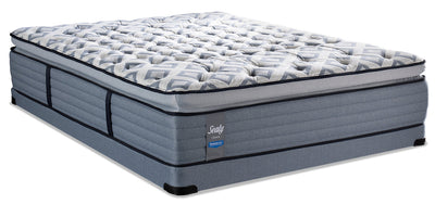 Sealy Posturepedic Crown Terrace Way Pillowtop Low-Profile Queen Mattress Set|Ensemble matelas à plateau-coussin profil bas Terrace Way PosturepedicMD Crown Sealy pour  grand lit|TRCWYLQP