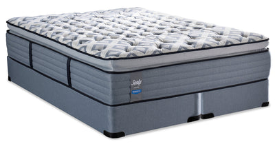 Sealy Posturepedic Crown Terrace Way Pillowtop Split Queen Mattress Set|Ensemble matelas à plateau-coussin divisé Terrace Way PosturepedicMD Crown de Sealy pour grand lit|TRCWYSQP