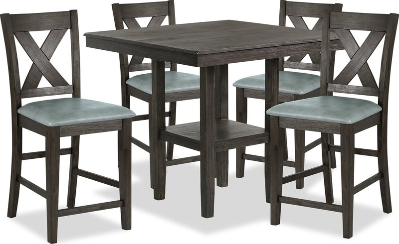 23b0a47e2af6 Tribeca 5-Piece Counter-Height Dining Package