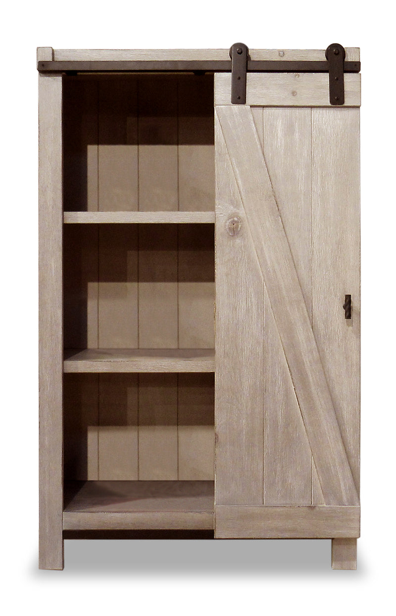 Troy 54 bookcase with sliding door the brick - Bibliotheque porte coulissante ...