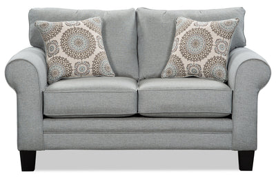 Tula Fabric Loveseat – Mist - Traditional style Loveseat in Mist