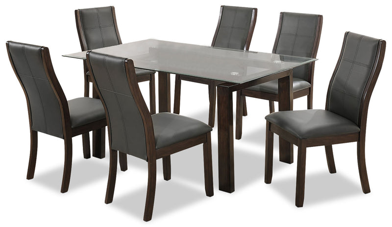 Tyler 7-Piece Dining Package - Grey - {Retro} style Dining Room Set