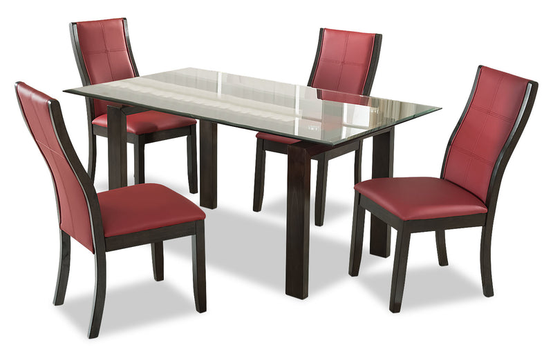Tyler 5-Piece Dining Package – Red - {Retro} style Dining Room Set