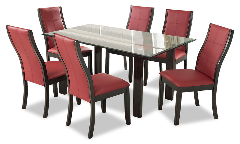 Tyler 7-Piece Dining Package – Red - {Retro} style Dining Room Set