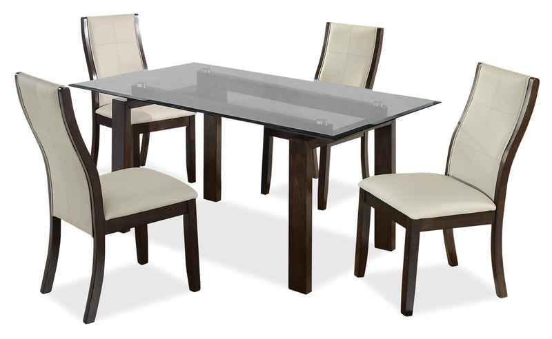 Tyler 5-Piece Dining Package – Taupe - {Retro} style Dining Room Set