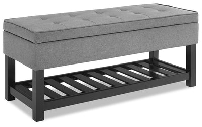 Tyler Storage Bench - Crow - Bench in Crow