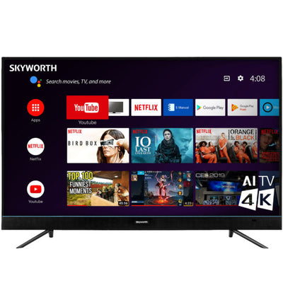 "Skyworth 49"" 4K IPS HDR Android Smart Television - 49U5A