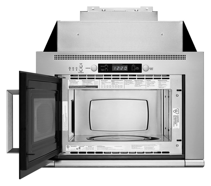 Whirlpool 0.8 Cu. Ft. Space-Saving Microwave Hood Combination - UMH50008HS - Over-the-Range Microwave in Stainless Steel