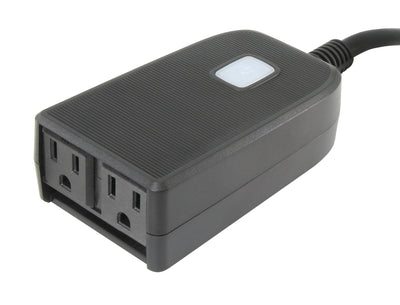 Gentec International Smart Plug - Ultralink Smart Home Wi-Fi Dual-Outlet Outdoor Plug - USHOWP2