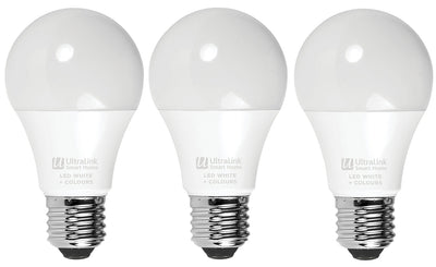 UltraLink LED Smart Bulbs 3-Pack – USHWP|Ensemble de 3 ampoules intelligentes à DEL UltraLinkMD – USHWP|USHWB3PK