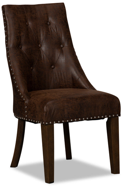 Vega Accent Dining Chair – Antique Brown|Chaise d'appoint de salle à manger Vega - brun antique|VEGABDSC
