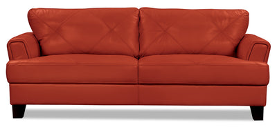 Vita 100% Genuine Leather Sofa – Terracotta - Modern style Sofa in Terracotta