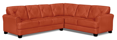 Vita 2-Piece 100% Genuine Leather Right-Facing Sectional - Terracotta|Sofa sectionnel de droite Vita 2 pièces en cuir 100 % véritable - terracotta|VITATCSR