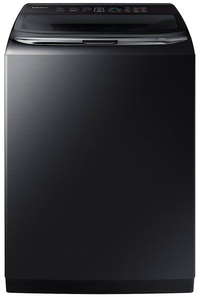Samsung 6.2 Cu. Ft. Top-Load Washer with Activewash™ - WA54M8750AV/A4 - Washer in Black Stainless Steel