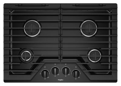 Whirlpool 30-Inch Gas Cooktop with EZ-2-Lift™ Hinged Cast-Iron Grates - WCG55US0HB