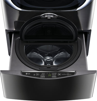 "LG TWIN Wash™ 1.1 Cu. Ft. SideKick™ 27"" Pedestal Washer - WD100CB  - Laundry Pedestal in Black Steel"