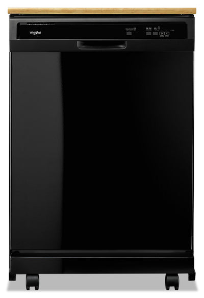 Whirlpool Heavy-Duty Tall-Tub Portable Dishwasher - WDP370PAHB - Dishwasher in Black