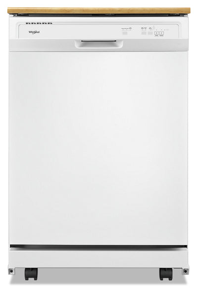 Whirlpool Heavy-Duty Tall-Tub Portable Dishwasher - WDP370PAHB - Dishwasher in White
