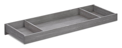 Westport Changing Station Table Topper - {Traditional} style Changing Table Topper in Dusk Grey {Solid Woods}