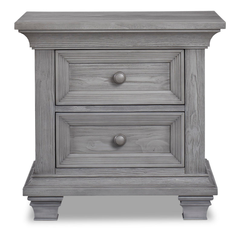 Westport Nightstand - {Traditional} style Nightstand in Dusk Grey {Solid Woods}