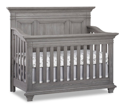 Westport 4-in-1 Convertible Crib - {Traditional} style Crib in Dusk Grey {Solid Woods}