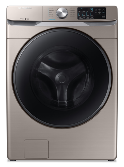 Samsung 5.2 Cu. Ft. Front-Load Washer with Steam - WF45R6100AC/US - Washer in Champagne